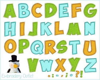 Applique Cute Alphabet