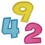 Applique Cute Numbers