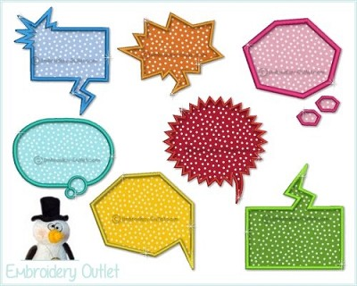 Applique Speech Balloons 4