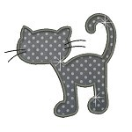Applique JDS Cat Silhouettes