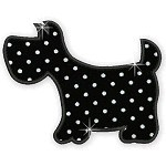 Applique Black Dogs