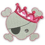 Applique Girly Skulls 1