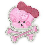 Applique Girly Skulls 2