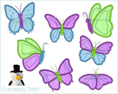 Applique Colorful Butterflies 2