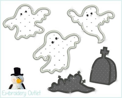 Applique Ghost Silhouettes