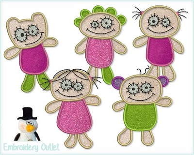 Applique Happy Dolls