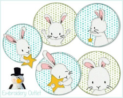 Doodle Buttons Bunny