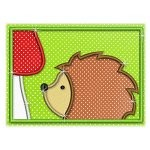 Mug Rug 128 Hedgehog