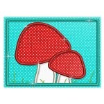 Mug Rug 130 Mushrooms